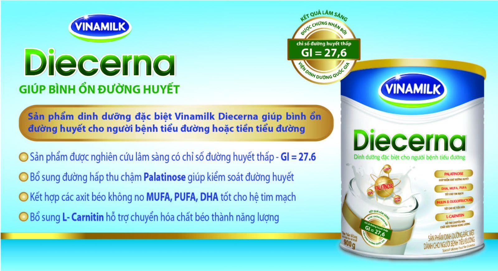 Sữa Diecerna 900g giúp kiểm soát đường huyết tốt nhất