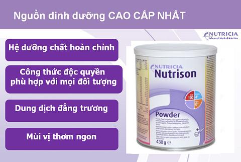 Sữa Nutrison Powder nguồn dinh dưỡng cao cấp nhất cho người bệnh