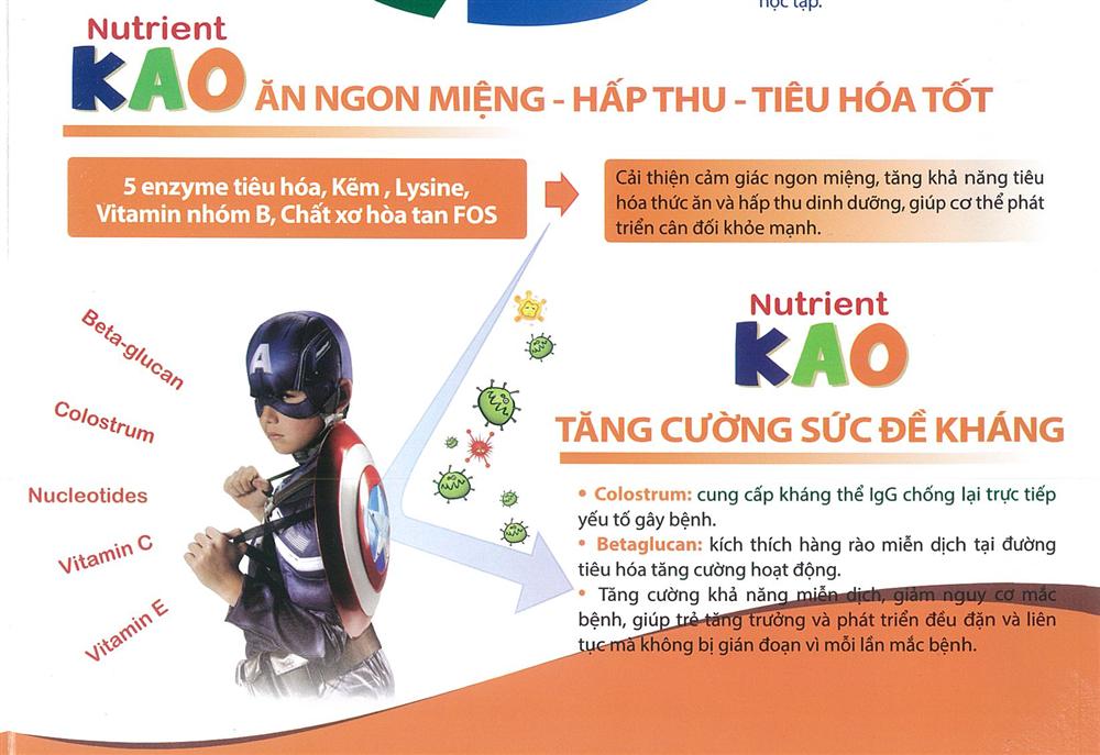 Sữa Nutrient Kao tăng cường phát triển chiều cao - Giá rẻ nhất Hà Nội