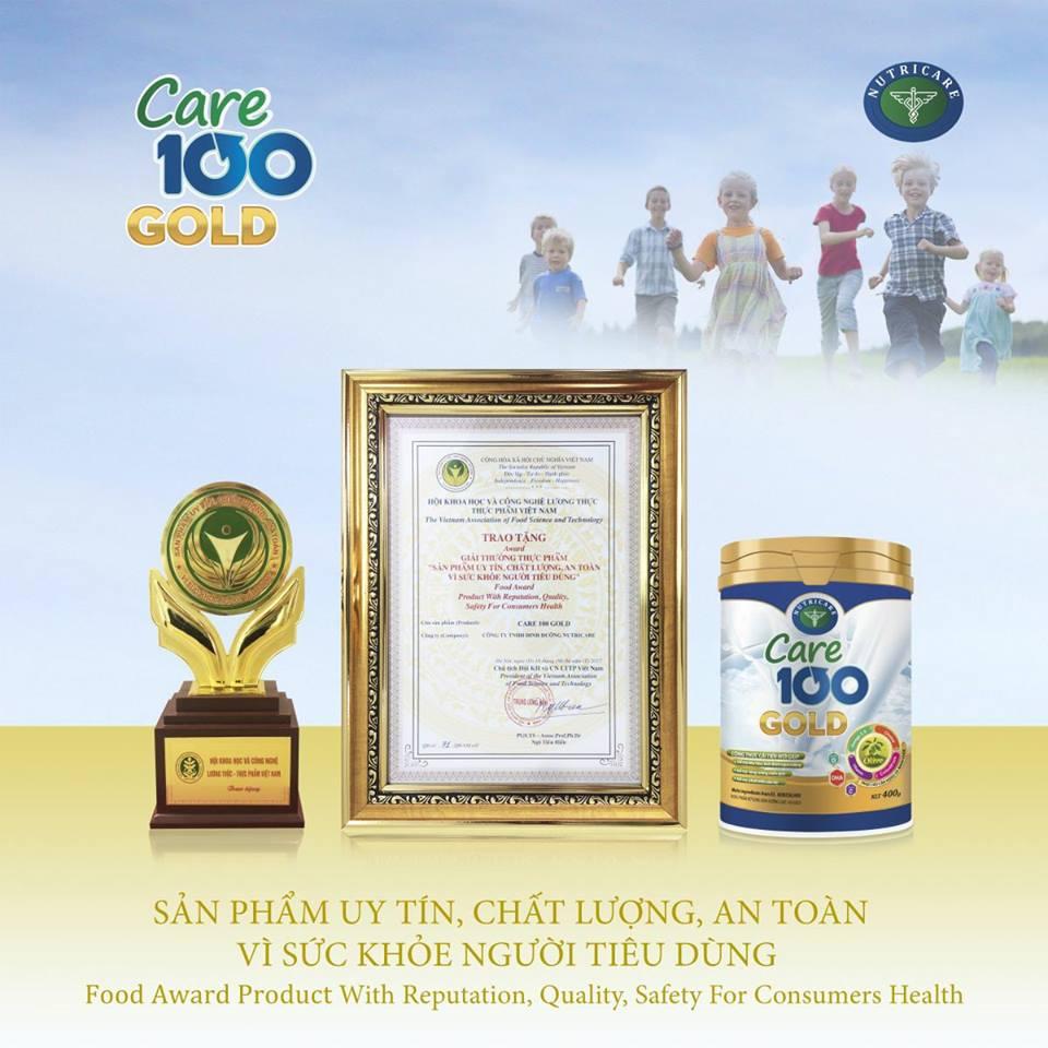 Sữa Care 100 Gold sản phẩm chất lượng tuyệt vời hỗ trợ tăng cân, tăng chiều cao và phát triển trí não cho bé