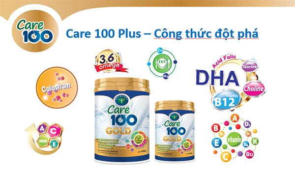 Sữa Care 100 Gold với công thức dinh dưỡng đột phá