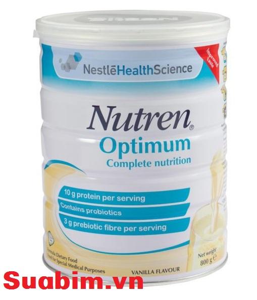 Sữa Nutren Optimum sản phẩm dinh dưỡng của Hãng Nestle danh tiếng