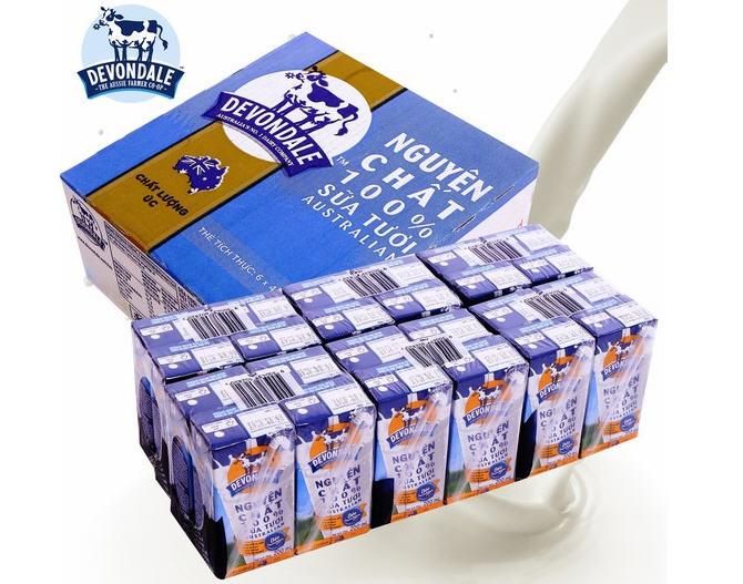 Sữa tươi devondale nguyên kem 200ml nhập khẩu nguyên lon từ Úc