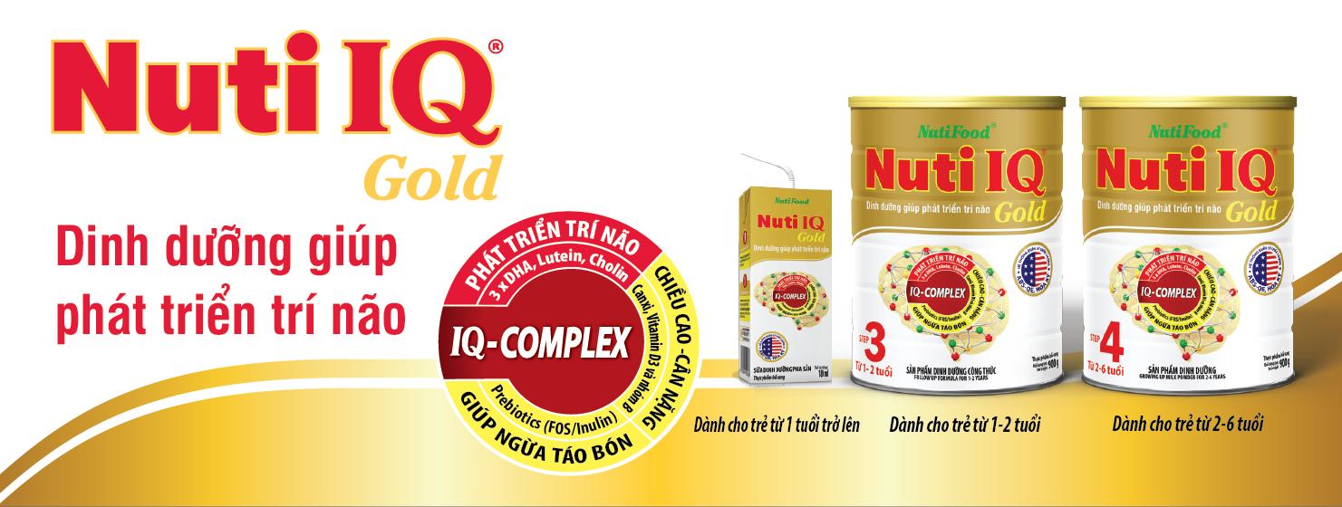 Sữa Nuti IQ Gold Step 4 dinh dưỡng phát triển trí não