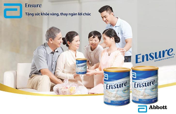 Sữa Ensure Úc 850g quà tặng cho sức khỏe người già