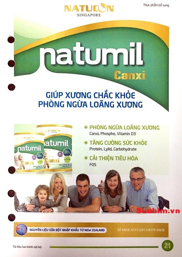 Sữa Natumil đa dạng chủng loại sản phẩm phù hợp với mọi thành viên trong gia đình