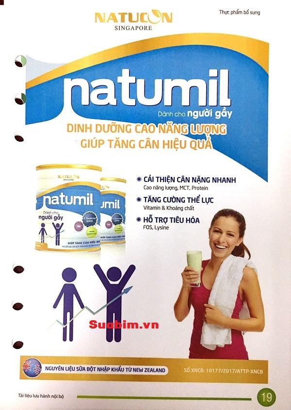 Sữa Natumil dành cho người gầy
