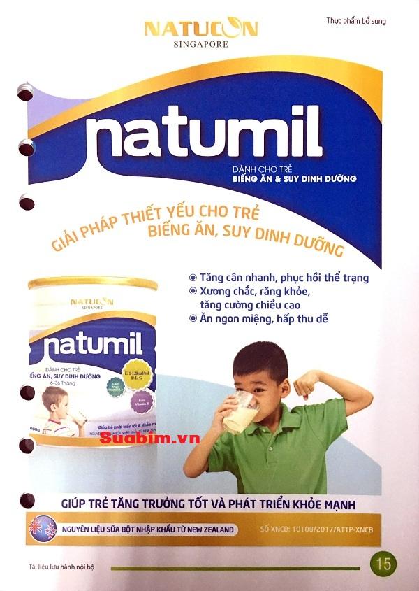 Sữa Natumil dành cho trẻ biếng ăn suy dinh dưỡng