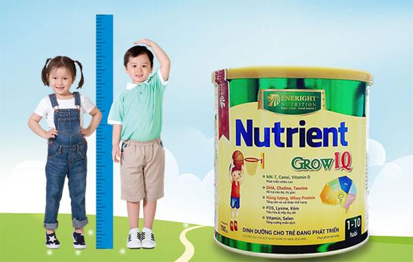 Sữa Nutrient Grow IQ 700g dinh dưỡng phát triển chiều cao hiệu quả