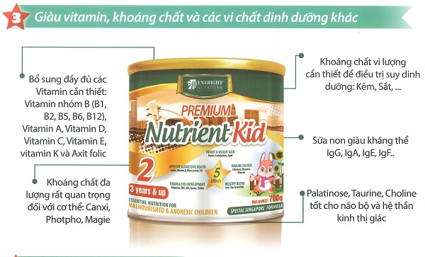 Sữa Nutrient Kid 1 700g