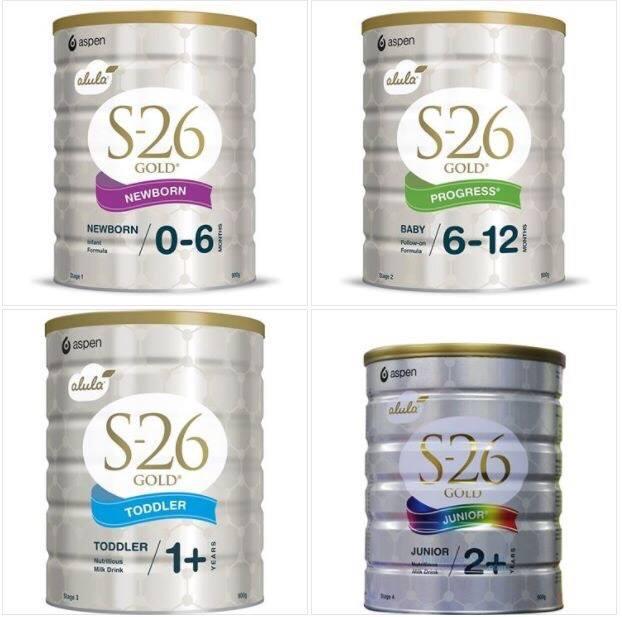 Sữa S26 của Úc các số