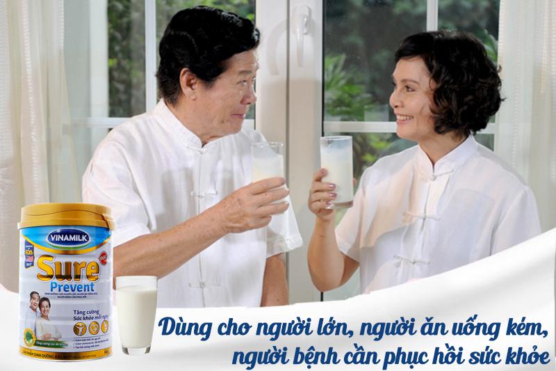 Sữa Sure Prevent dinh dưỡng dành cho người lớn tuổi, người kém ăn, người bệnh cần hồi phục