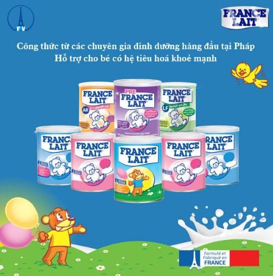 Sữa France Lait đa dạng, nhiều loại cho trẻ sơ sinh