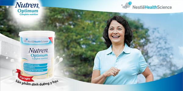 Sữa Nutren Optimum tốt cho tim mạch giảm căng thẳng mệt mỏi