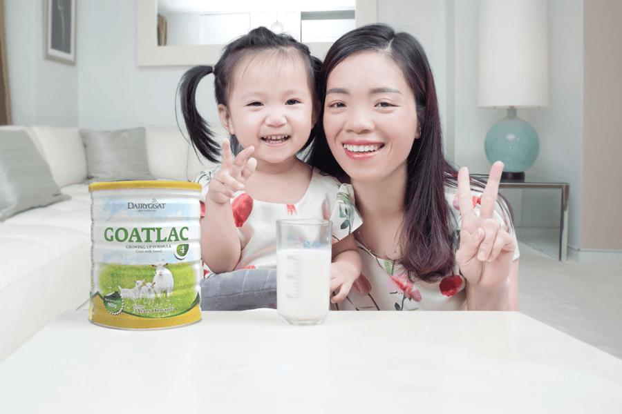 Sữa dê goatlac cho bé phát triển vượt trội