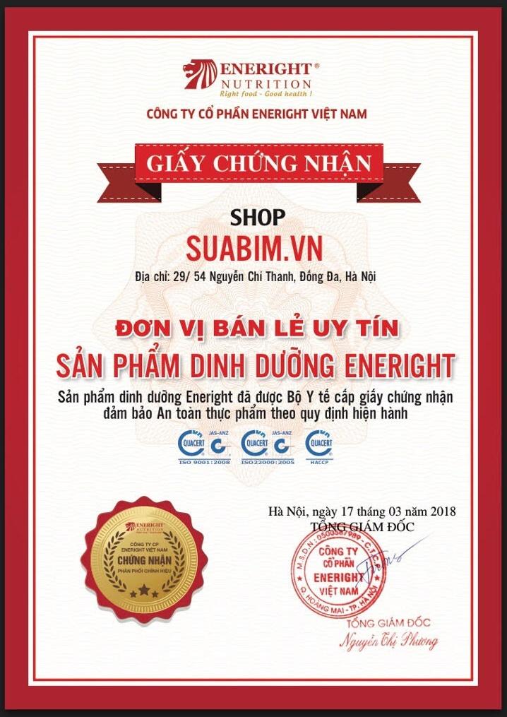 Suabim.vn nhà phân phối chính hãng các sản phẩm sữa Eneright