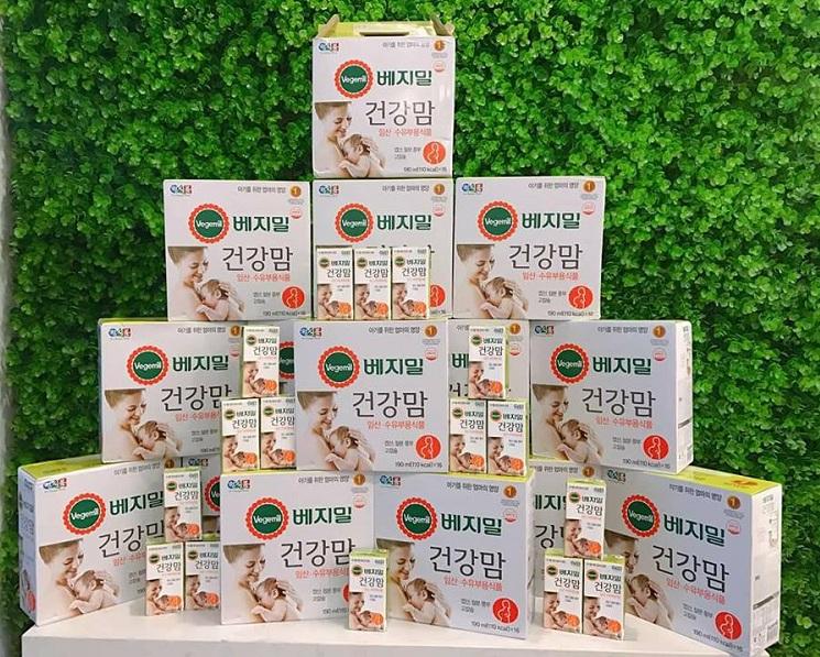 Sữa bầu Vegemil 190ml thùng 16 hộp dinh dưỡng hoàn hảo cho bà bầu