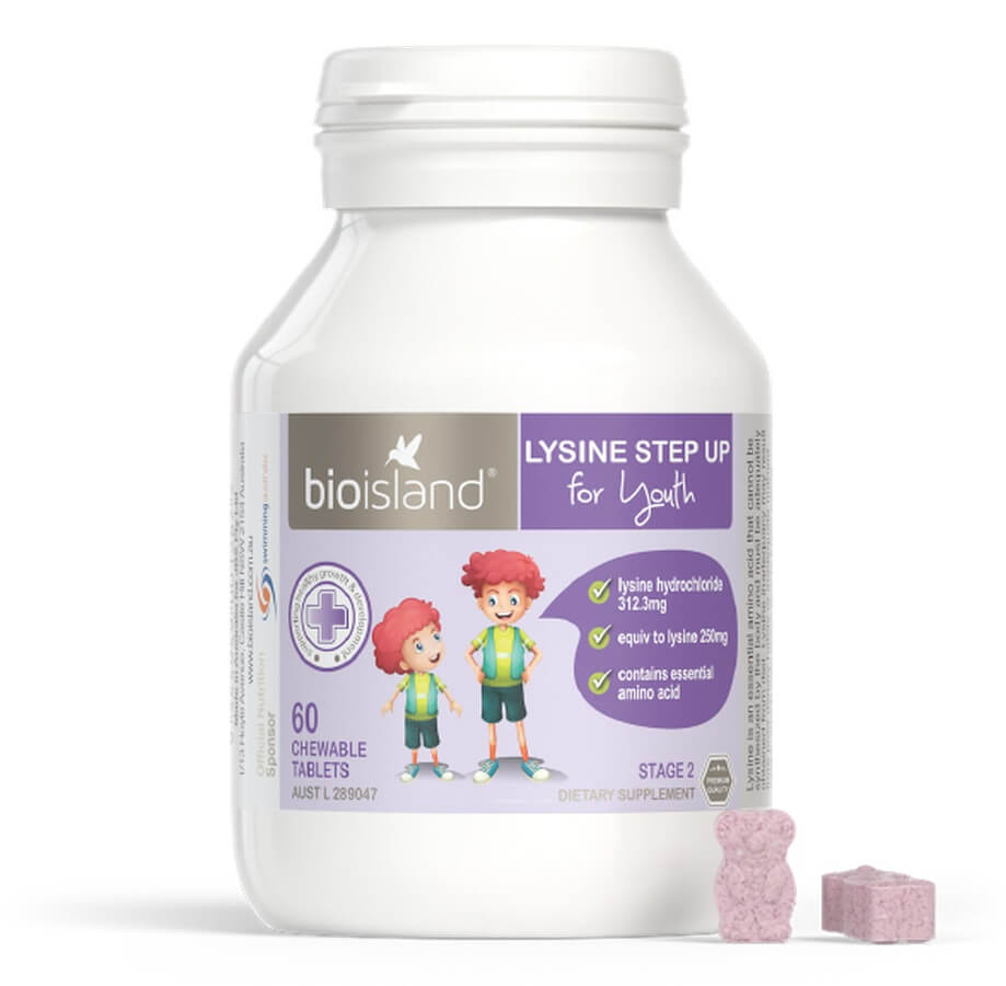 Bio Island Lysine Step Up For Youth 60 Viên