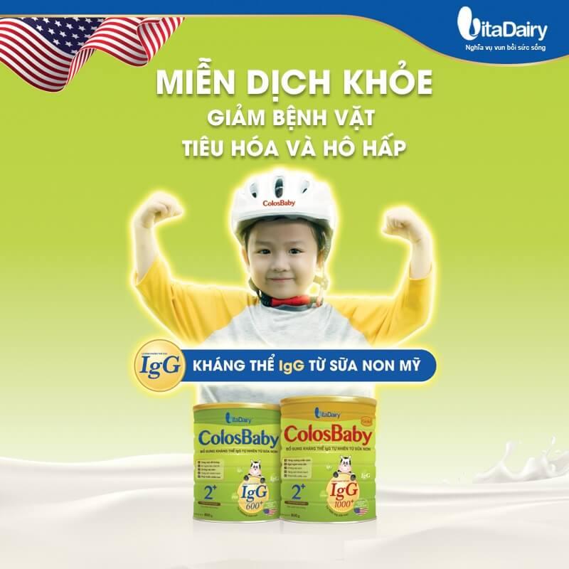 Sữa Colosbaby 1+ giúp bé tăng cân tăng chiều cao