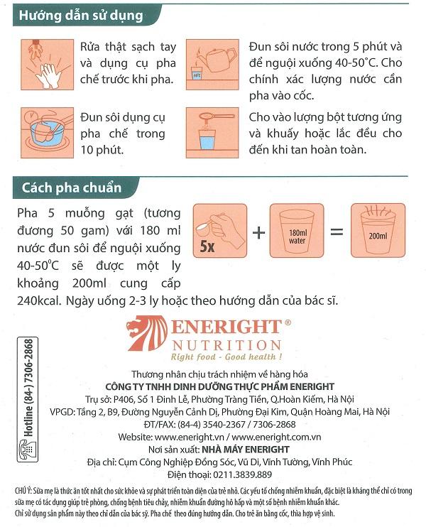 hướng dẫn sử dụng, hướng dẫn pha sữa nutrient kid 1