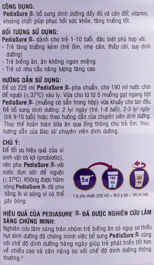 Hướng dẫn cách pha sữa pediasure ba