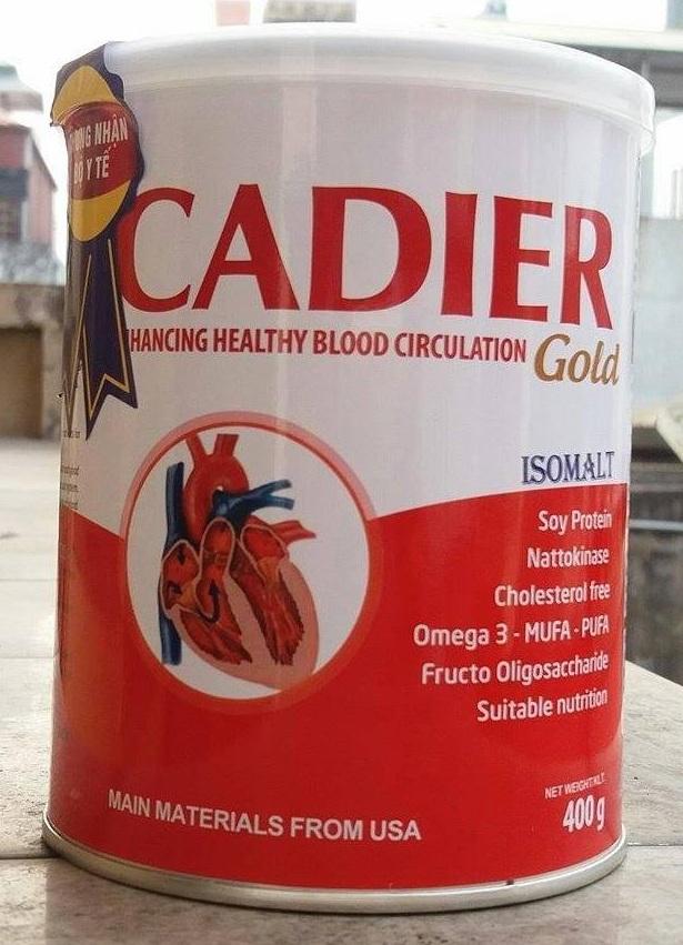 Sữa Cadier Gold dành cho người tim mạch và tiểu đường