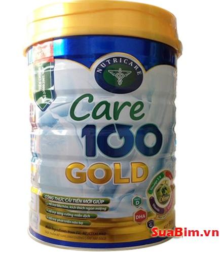 Sữa Care 100 Gold 900g dinh dưỡng hiệu quả đặc trị trẻ biếng ăn chậm tăng cân giúp phát triển trí não tốt