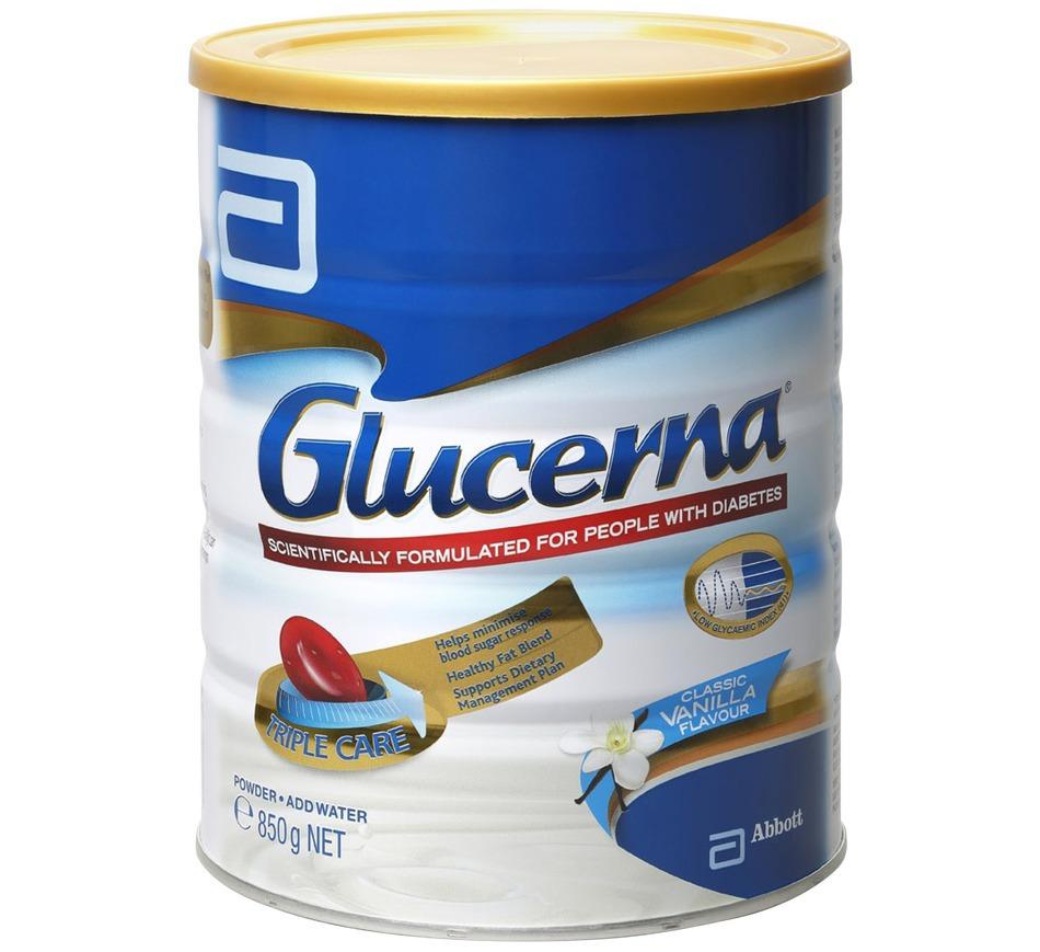 Sữa Glucerna Úc 850g nhập khẩu về Việt nam từ Úc