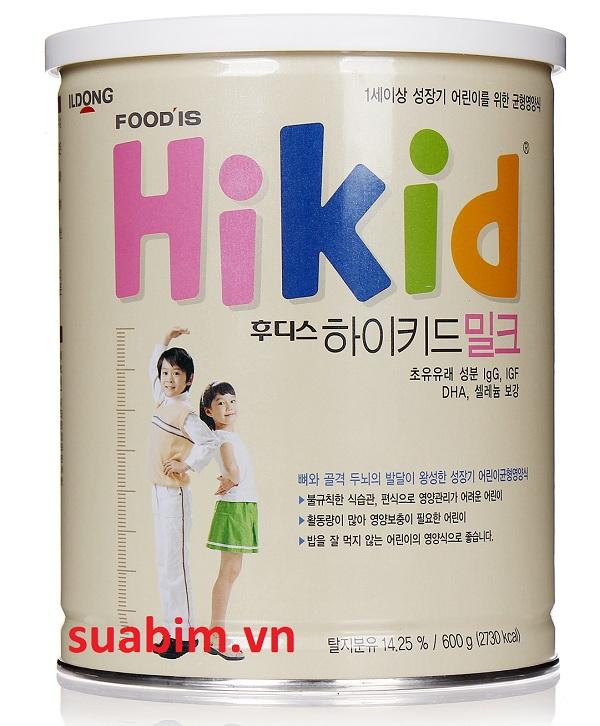 Sữa Hikid Hàn Quốc dinh dưỡng giúp trẻ phát triển toàn diện