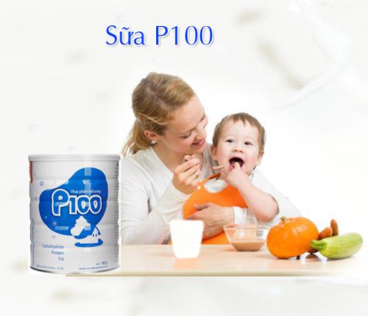 Sữa P100 của viện dinh dưỡng DỄ UỐNG, giúp bé tăng cân ổn định2