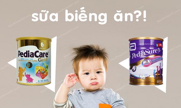 Sữa pediacare gold dòng sữa dành cho trẻ biếng ăn hiệu quả vượt trội