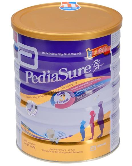 Sữa Pediasure BA cho trẻ biếng ăn, thiếu hụt chất dinh dưỡng