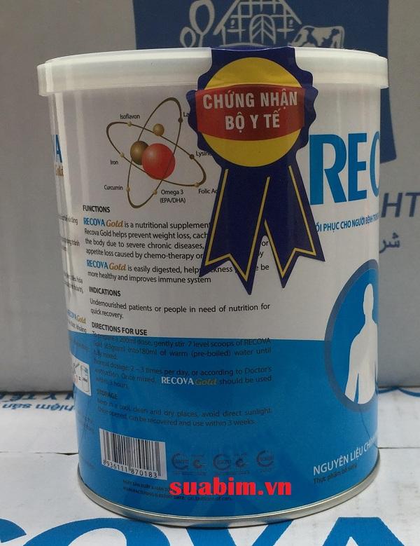 Sữa Recova Gold 400g phục hồi sức khỏe trong điều trị