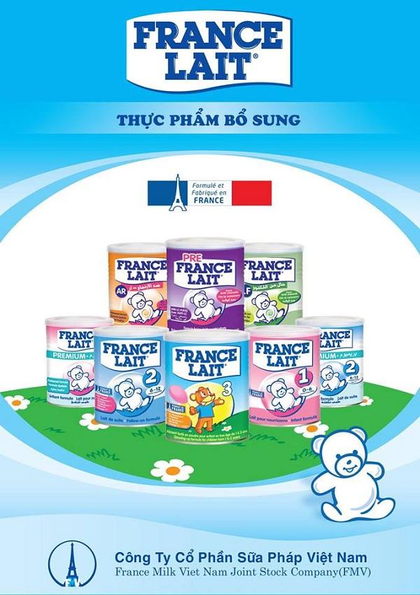 Sản phẩm sữa france lait nhập khẩu nguyên lon từ pháp