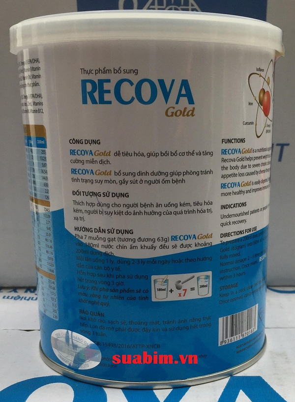 sữa recova gold cho bệnh nhân ung thư