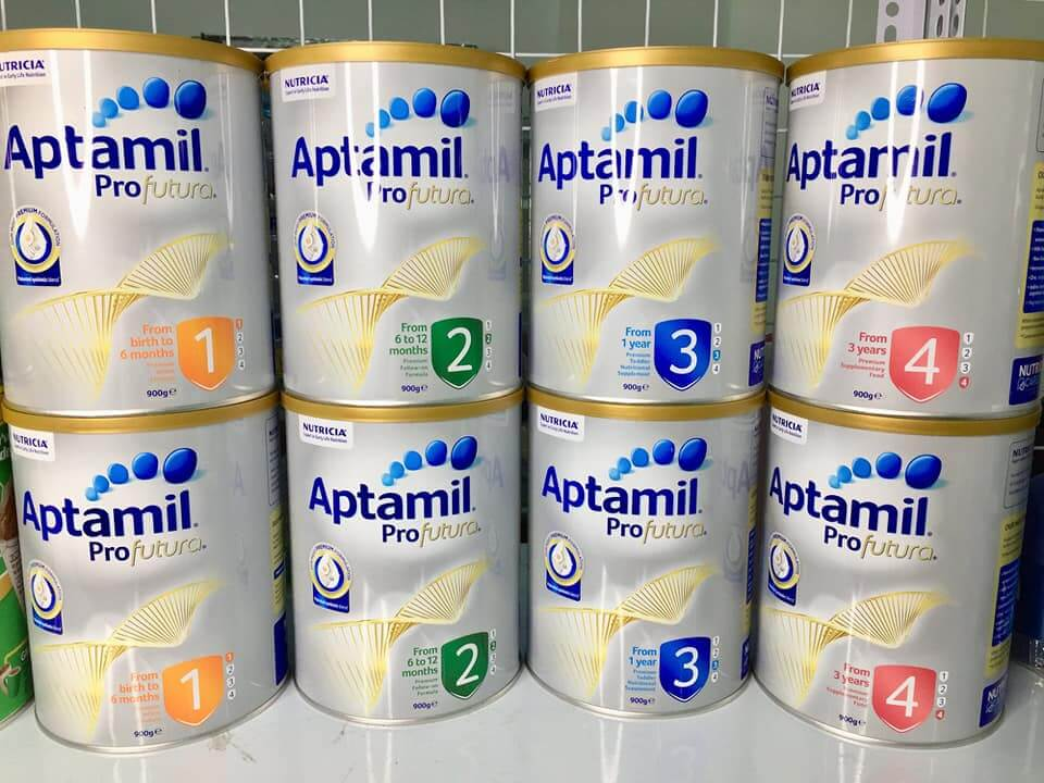 Sữa Aptamil Úc các số 1, 2, 3