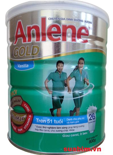Sữa Anlene dành cho người già trên 51 tuổi bổ sung canxi hiệu quả