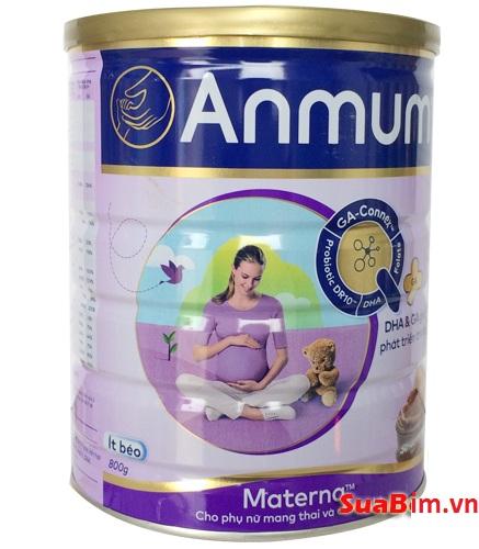 Sữa Anmum bổ sung các dưỡng chất cho thai kỳ khỏe mạnh