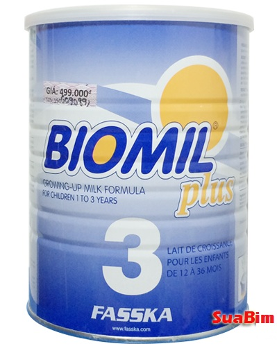 Sữa Biomil Plus 3 800g dành cho trẻ 1-3 tuổi