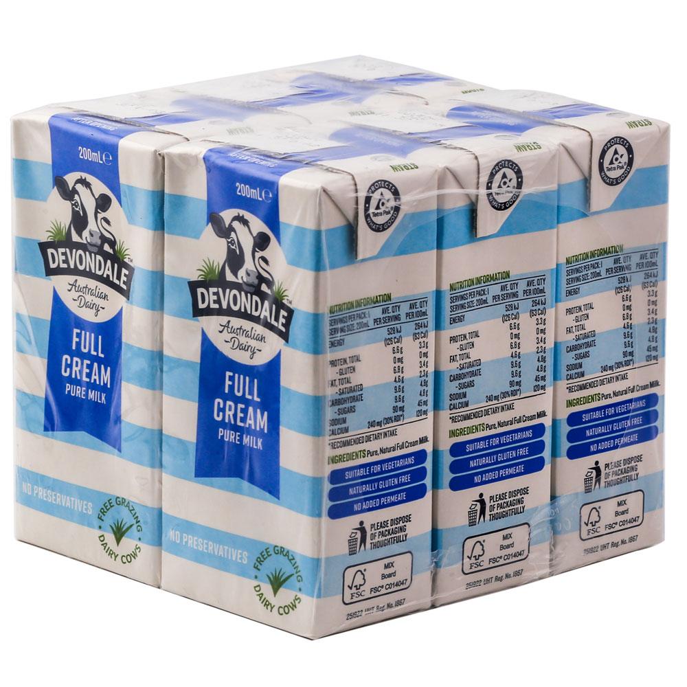Hình ảnh sữa tươi devondale 200ml nhập khẩu nguyên lon từ úc
