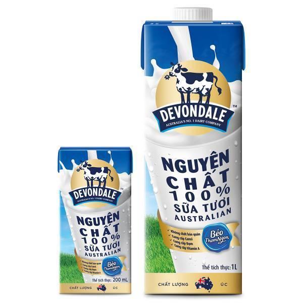 Sữa tươi devondale nguyên kem 200ml tốt cho cả gia đình