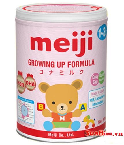 Sữa Meiji Nhập khẩu nguyên lon từ nhật số 9 dành cho bé 1-3 tuổi