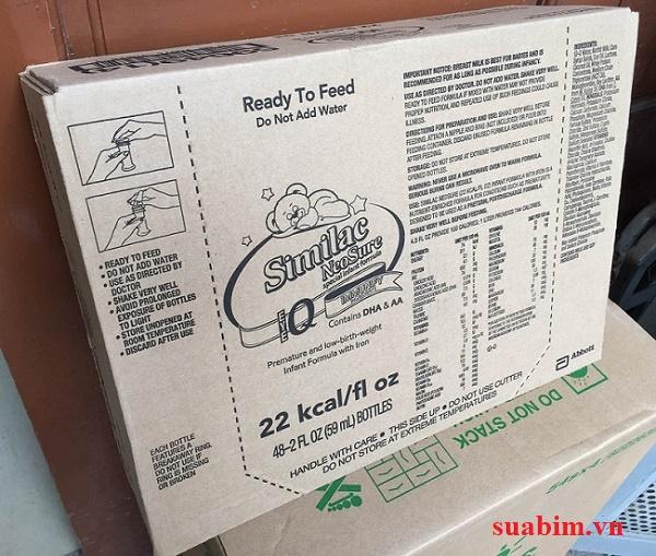 Sữa nước Similac Neosure IQ 22 Kcal 48 ống/thùng