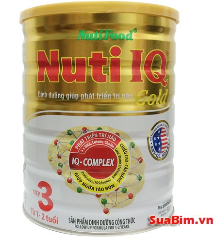 Sữa Nuti IQ Gold Step 3 900g