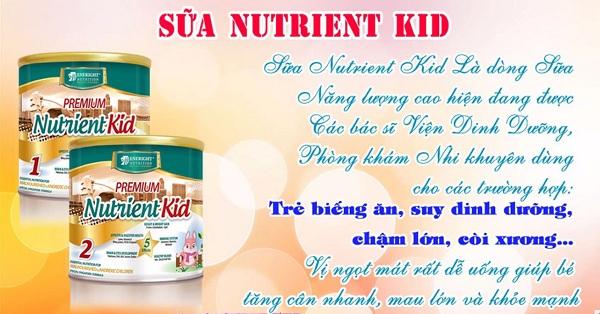SỮA NUTRIENT KID giúp bé TĂNG cân nhanh, tăng chiều cao ổn định