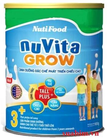Sữa Nuvita grow 3+ đặc chế dành cho phát triển chiều cao cho bé trên 3 tuổi