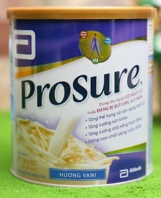 Sữa Prosure 380g dinh dưỡng cho người ung thư của hãng Abbott