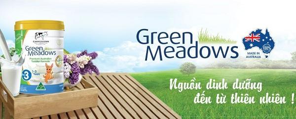 Sữa Green Meadows số 3 900g nguồn dinh dưỡng từ thiên nhiên