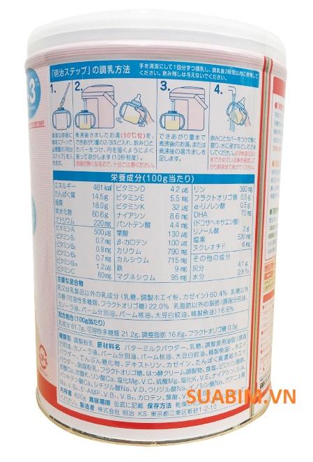Thành phần dinh dưỡng sữa meiji số 9