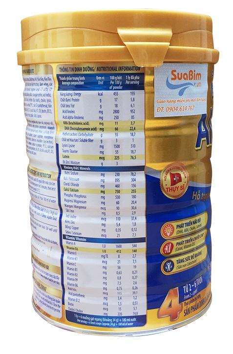thông tin sữa dielac alpha gold step 4